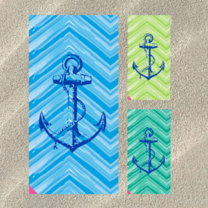 By The Case - Anchors Beach Towels