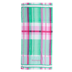 Plaid Hot Prints Brazilian Beach Towel Aqua