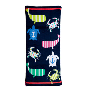 Large Hot Prints Beach Towel Preppy Icons