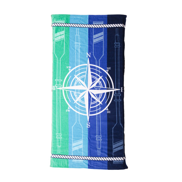 Compass Oars Large Hot Prints Beach Towel
